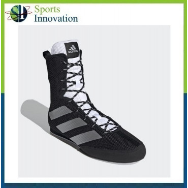 Adidas Box Hog 3 Adult Boxing Boots Trainers - Black Silver