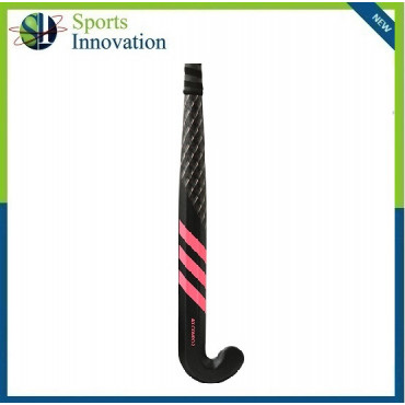 Adidas AX Compo 2 Carbon Composite Hockey Stick with Extra Low Bow - Black