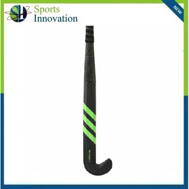 Adidas TX Compo 2 Carbon Composite Hockey Stick with Low Bow - Black Green