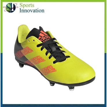 Adidas Rugby Junior Soft Ground Boots - Yellow