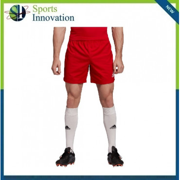 Adidas 3 Stripe Rugby Shorts - Red