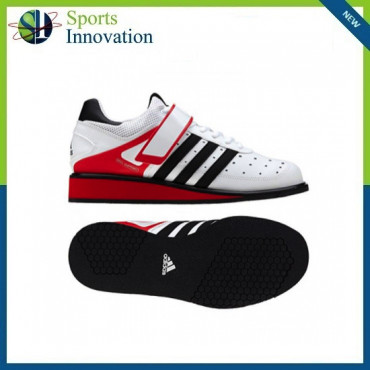 Adidas Power Perfect II Junior Weight Lifting Shoes - White Red Black