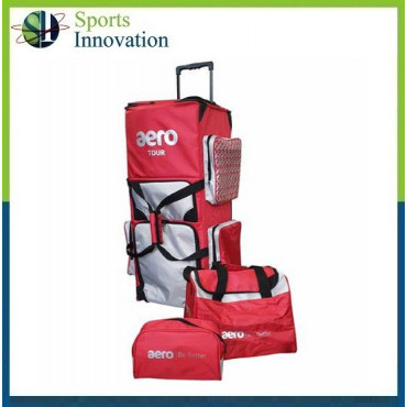 Aero Cricket Stand Up Tour Bag - Red Silver