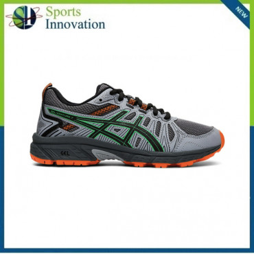 Asics AW2020 Kids Gel Venture 7 GS Trail Running Trainers - Carrier Grey/Cilantro