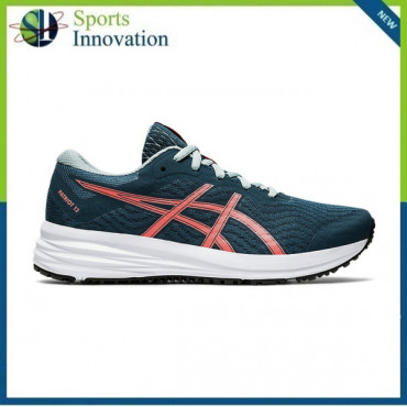 Asics AW2020 Kids Patriot 12 GS Running Trainers - Magnetic Blue/ Sunrise Red