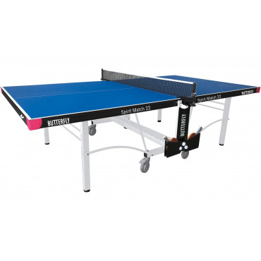 Butterfly Spirit Match 22 Rollaway Table Tennis Table - BLUE