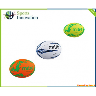 Mitre B1102 Sabre Rugby Ball (White)