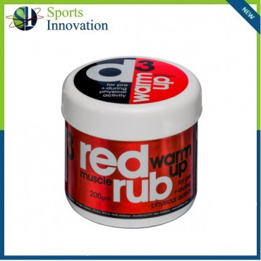 D3 Red Sports Pre and During Muscle Rub 200G