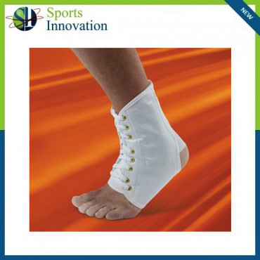 VULKAN WHITE ANKLE BRACE + LACES (7901)