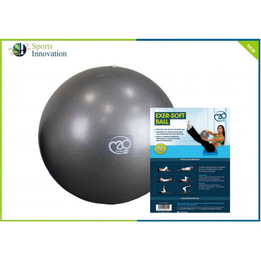 Fitness Mad 12'' Exer-Soft Ball - Graphite