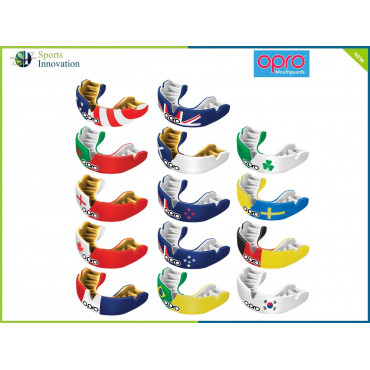 """OPRO Gumshield Power-Fit Mouthguard - ADULT - """"COUNTRIES"""""""