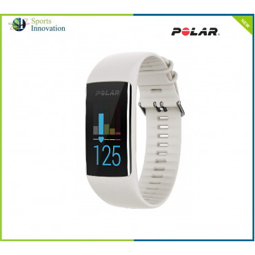 Polar A370 Sports Wrist Watch with Continuous Heart Rate, Polar Sleep Plus™, Tracking GPS via phone - WHITE