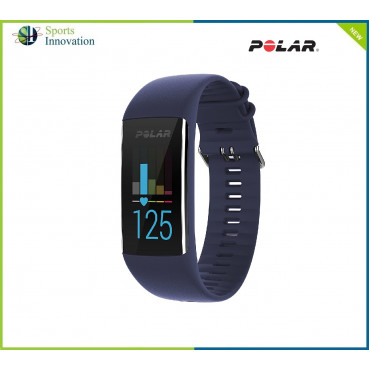 Polar A370 Sports Wrist Watch with Continuous Heart Rate, Polar Sleep Plus™, Tracking GPS via phone - BLUE  M/L