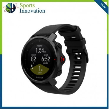 Polar Grit X Outdoor Multi Sport Watch With GPS And All Essential Training Features - BLACK - MEDIUM/LARGE