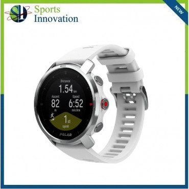 Polar Grit X Outdoor Multi Sport Watch With GPS And All Essential Training Features - WHITE/SMALL