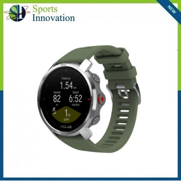 Polar Grit X Outdoor Multi Sport Watch With GPS And All Essential Training Features - GREEN - MEDIUM/LARGE