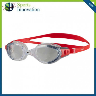 Speedo Adult Future Biofuse Flexiseal Goggles - Red/Clear